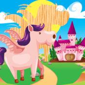 动画动物和马益...