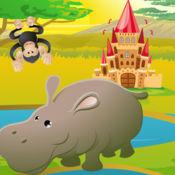 动画儿童动物:查找错误的照片!什么不适合?免费的逻辑学习游戏