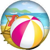 滚动沙滩球技巧游戏 1
