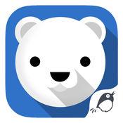 北极熊:雪运行...