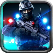 警察反恐怖主义特警射击在犯罪城市 1