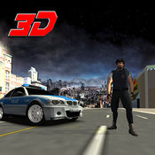 警方极端的汽车驾驶3D 1