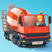 小小建筑工人 - 儿童卡车、吊车和挖掘机