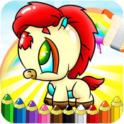 Ponies Coloring Book For Toddler  1.2