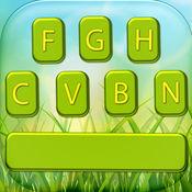 大自然键盘主题 – 季节背景和彩色按键对于发短信 1