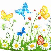 蝴蝶花彩色书游戏 1