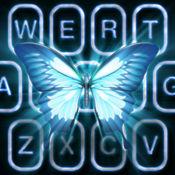 霓虹蝴蝶键盘