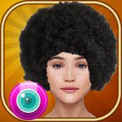 放克你自己 –  尝试黑人发型在虚拟照片展台对于酷的变化