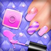 指甲彩绘沙龙: 精彩的美甲设计和指甲护理现代女孩 1