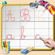 学习在英语和西班牙语写的英文字母 - 声音 1.1