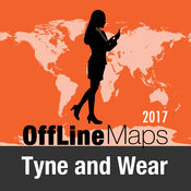 泰恩-威爾郡 离线地图和旅行指南