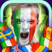 面部彩绘2016年欧洲 – 脸国旗对于足球迷 1
