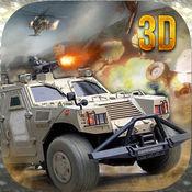 4×4沙漠军队吉普车司机3D动作战斗 1