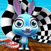 涡轮增压快兔子 - 有趣的的兔子跳跃 - 趣味赛跑 迷你 赛车游戏