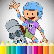 体育卡通图画书 - 绘画为孩子们免费游戏 1