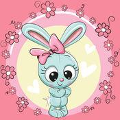 可爱的 墙纸 女孩 - 粉红色 的背景 1