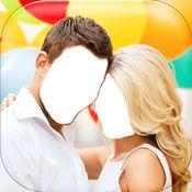 夫妇爱照片蒙太奇 – 捕捉甜蜜时刻同浪漫相框和贴纸 1