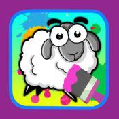 孩子着色书图画绵羊和动物比赛 1