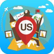 美国美国 离线旅游指南和地图。城市观光 纽约纽约,洛杉矶,