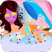 小公主美容水疗沙龙 - 女孩游戏的脸型,发型时尚makup与改造