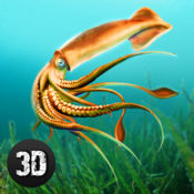 鱿鱼的水下生活辛3D 1