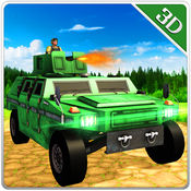 军队吉普车模拟器和射击战斗模拟器 1