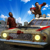 疯狂僵尸车战争 3D-僵尸撞 & 启示录游戏 1