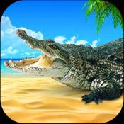 流浪野生鳄鱼饥饿模拟器:愤怒的鳄鱼攻击 1