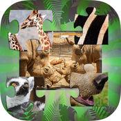野生动物拼图益智游戏