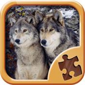 狼拼图游戏 - 脑游戏为孩子和成人