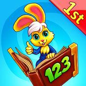 好奇小兔数学赛跑:一完成年级应用-数字,加法,减法 1.4.2