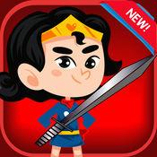 神奇女侠勇士格斗怪兽的新游戏的女孩亚军的冒险乐趣,为孩子