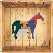 儿童木拼图游戏 -  动物 1.4