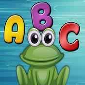 Frogo学会字母表 - 孩子的字母表比赛 1