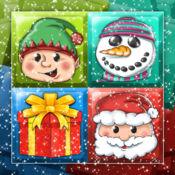 冻结 圣诞 难题 新 年 匹配 冬季 游戏