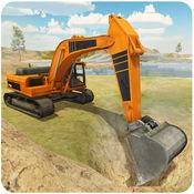 重型挖掘机模拟器 - 三维工程起重机操作员与沙运输卡车司