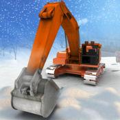 大雪挖掘机模拟器3D - 冬季极端起重机操作员和自卸车驾驶