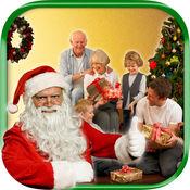采取与圣诞老人图片