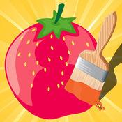 图画书 游戏有很多图片,如苹果,香蕉,葡萄,柠檬,梨,草莓:水果和蔬