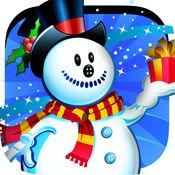 冷冻雪人冬季降雪 - 飞行通过天空免费游戏 1