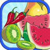 水果和蔬菜 主 孩 子 書 畫 手 指 曼 陀 羅