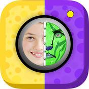 贴纸 面部 彩绘 面具 游戏 – 滑稽 和 吓人 图片 对于 iPh