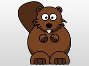 海狸贴纸:毛水坝建设者! 1