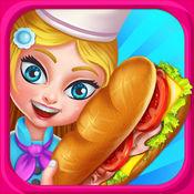 三明治餐厅  - 免费烹饪冒险遊戏  Sandwich Cafe Game 1