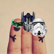 英雄的手指 - 把英雄面具在你的手指!
