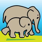 学前教育-动物及其年轻 -垫版