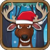 圣诞老人的驯鹿冰赛牛仔 - 自由运行的冒险! 1