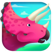 恐龙世界总动员 - 三角龙探索侏罗纪儿童游戏