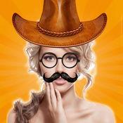 贴纸相机:为您的图片加上胡子假发动物