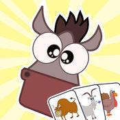 农场 动物 匹配 游戏 - 英语 学习 应用 程序 1